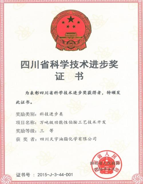2015年四川省科技进步三等奖
